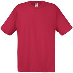 Textil Homem T-Shirt mangas curtas Universal Textiles 61082 Vermelho Escuro