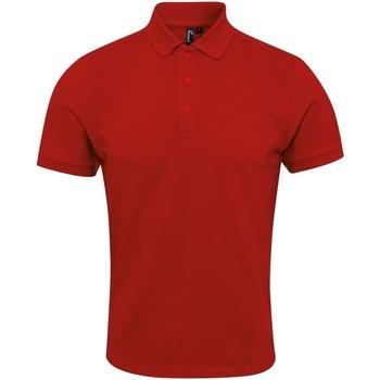 Textil Homem Polos mangas curta Premier PR630 Vermelho