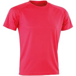 Textil T-Shirt mangas curtas Spiro Aircool Super Rosa