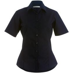 Textil Mulher camisas Kustom Kit K742F Marinha Negra