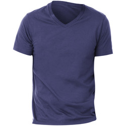 Textil Homem T-Shirt mangas curtas Bella + Canvas CA3005 Azul-marinho