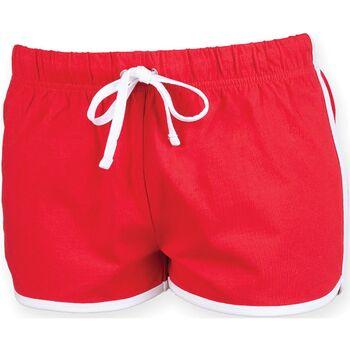 Textil Mulher Shorts / Bermudas Skinni Fit SK069 Vermelho/ Branco