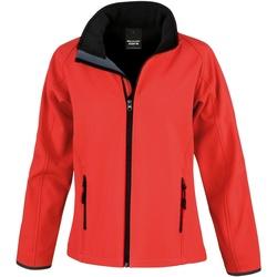 Textil Mulher Corta vento Result R231F Vermelho / Preto