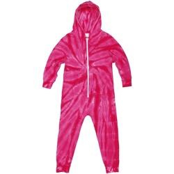 Textil Criança Pijamas / Camisas de dormir Colortone Die Tye Aranha Rosa