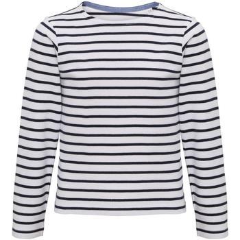 Textil Criança T-shirt mangas compridas Asquith & Fox AQ074 Branco/Navio