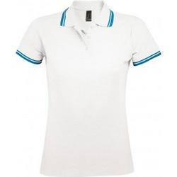 Textil Mulher Polos mangas curta Sols 10578 Branco/Aqua Azul