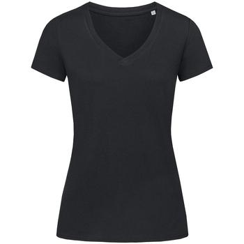 Textil Mulher T-Shirt mangas curtas Stedman Stars Janet Opala Negra
