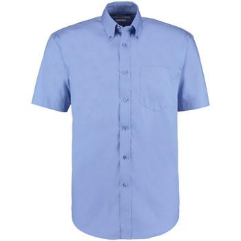 Textil Homem Camisas mangas curtas Kustom Kit KK109 Azul Médio