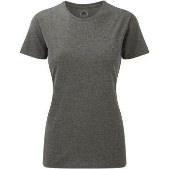Textil Mulher T-Shirt mangas curtas Russell 165F Grey Marl