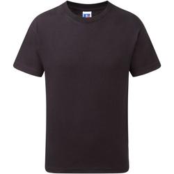 Textil Rapaz T-Shirt mangas curtas Jerzees Schoolgear J155B Preto