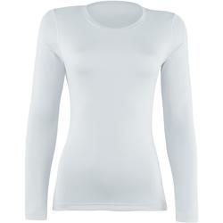 Textil Mulher T-shirt mangas compridas Rhino  Branco