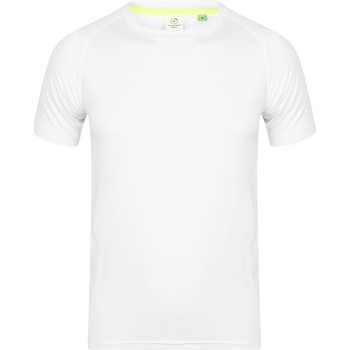 Textil Homem T-Shirt mangas curtas Tombo Teamsport TL515 Branco / Branco