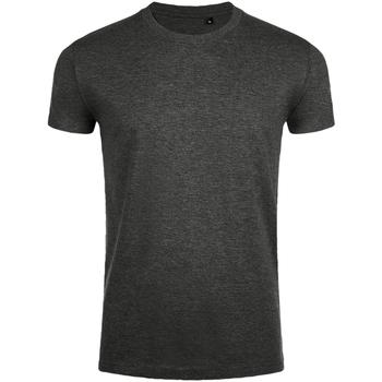 Textil Homem T-Shirt mangas curtas Sols 10580 Carvão Vegetal Marl