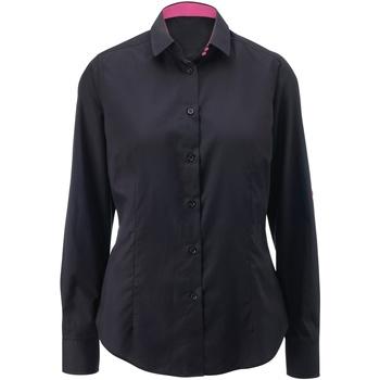 Textil Mulher camisas Alexandra AX060 Preto/ Rosa