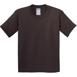 Textil Criança T-Shirt mangas curtas Gildan 5000B Chocolate Escuro