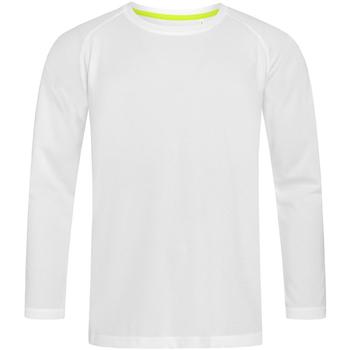 Textil Homem T-shirt mangas compridas Stedman  Branco