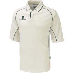 Textil Homem Polos mangas curta Surridge SU001 Guarnição branca/verde