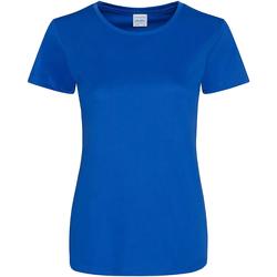 Textil Mulher T-Shirt mangas curtas Awdis JC025 Royal Blue
