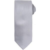 Textil Homem Gravatas e acessórios Premier Waffle Prata