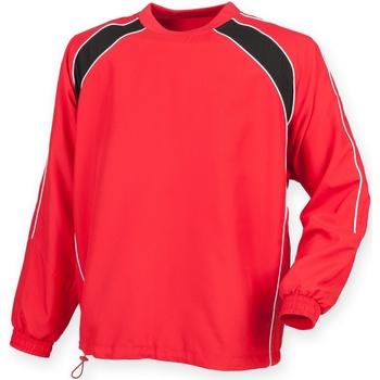 Textil Homem Casacos fato de treino Finden & Hales LV845 Vermelho/ Preto/ Branco