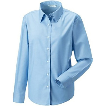 Textil Mulher camisas Russell 932F Oxford Blue