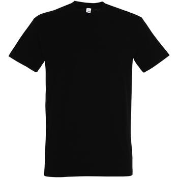 Textil Homem T-Shirt mangas curtas Sols 11500 Preto profundo