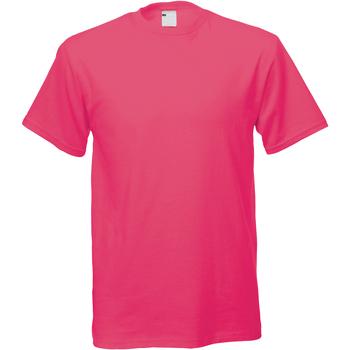 Textil Homem T-Shirt mangas curtas Universal Textiles 61082 Rosa Quente