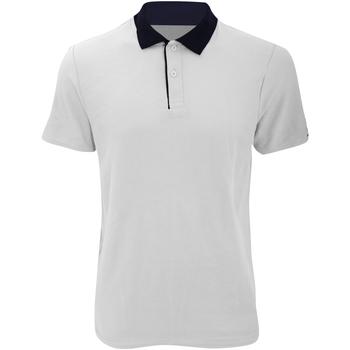 Textil Homem Polos mangas curta Anvil 6280 Branco / Marinha