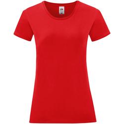 Textil Mulher T-Shirt mangas curtas Fruit Of The Loom 61432 Vermelho