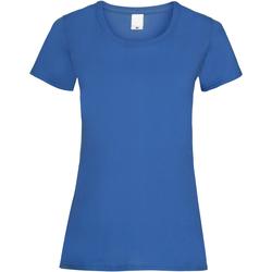 Textil Mulher T-Shirt mangas curtas Universal Textiles 61372 Cobalto