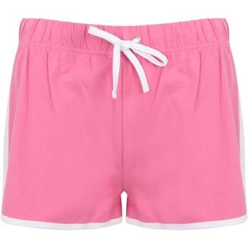 Textil Mulher Shorts / Bermudas Skinni Fit SK69 Cor-de-rosa/branco brilhante
