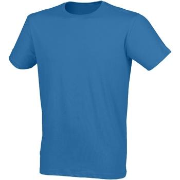 Textil Homem T-Shirt mangas curtas Skinni Fit SF121 Surf Blue