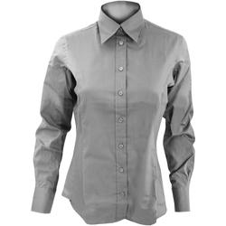 Textil Mulher camisas Kustom Kit KK702 Cinza Prata