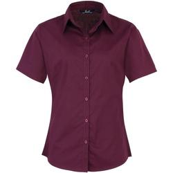 Textil Mulher camisas Premier PR302 Beringela
