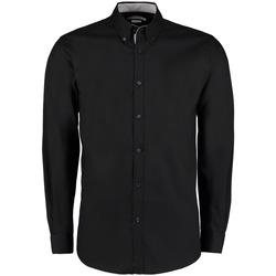 Textil Homem Camisas mangas comprida Kustom Kit KK190 Preto/Prata