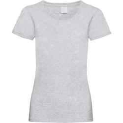Textil Mulher T-Shirt mangas curtas Universal Textiles 61372 Grey Marl