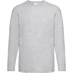 Textil Homem T-shirt mangas compridas Universal Textiles 61038 Grey Marl