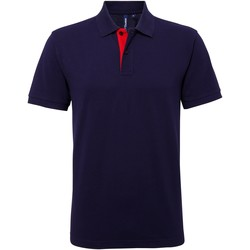 Textil Homem Polos mangas curta Asquith & Fox AQ012 Marinha/ Vermelho