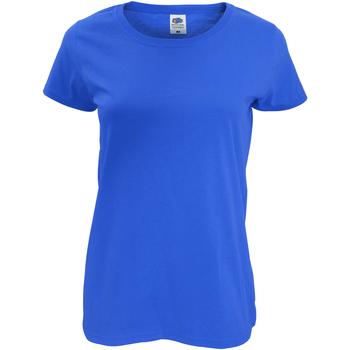 Textil Mulher T-Shirt mangas curtas Fruit Of The Loom 61420 Royal Blue