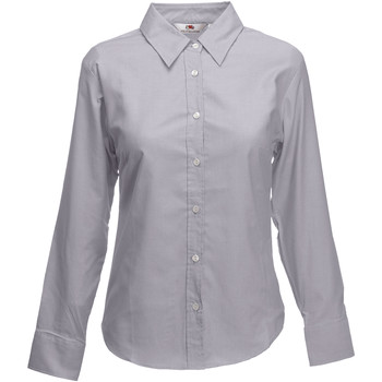 Textil Mulher camisas Fruit Of The Loom 65002 Oxford Grey
