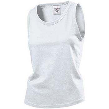Textil Mulher Tops sem mangas Stedman  Branco
