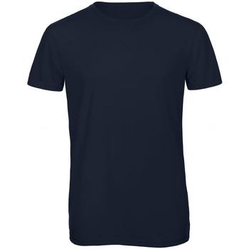 Textil Homem T-Shirt mangas curtas B And C TM055 Azul-marinho