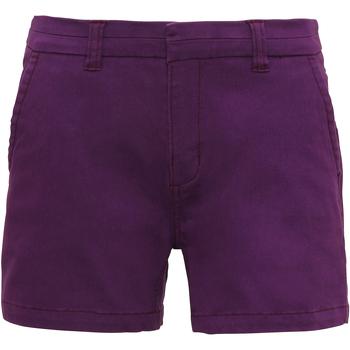 Textil Mulher Shorts / Bermudas Asquith & Fox AQ061 Púrpura