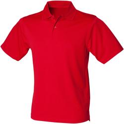 Textil Homem Polos mangas curta Henbury HB475 Vermelho clássico