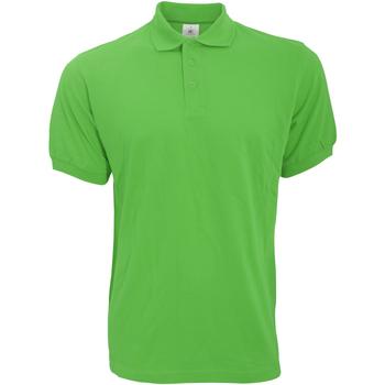 Textil Homem Polos mangas curta B And C PU409 Verdadeiro Verde