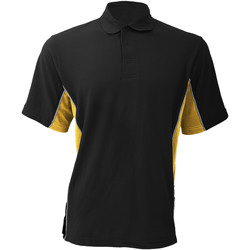 Textil Homem Polos mangas curta Gamegear KK475 Preto/amarelo sol/branco