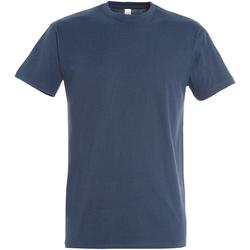Textil Homem T-Shirt mangas curtas Sols 11500 Denim