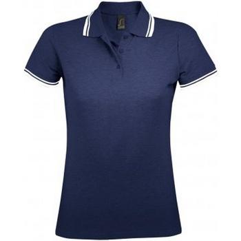Textil Mulher Polos mangas curta Sols 10578 Marinha francesa/branca