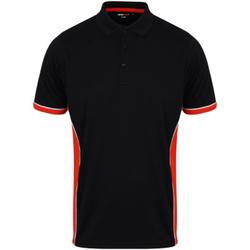 Textil Homem Polos mangas curta Finden & Hales TopCool Marinha/vermelho/branco