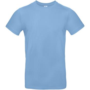 Textil Homem T-Shirt mangas curtas B And C TU03T Azul Céu